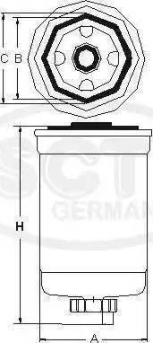 SCT Germany ST 6022 - Паливний фільтр autocars.com.ua