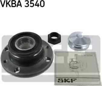 SKF VKBA 3540 - Комплект підшипника маточини колеса autocars.com.ua