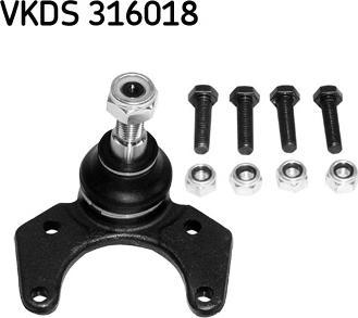 SKF VKDS 316018 - Несучий / направляючий шарнір autocars.com.ua