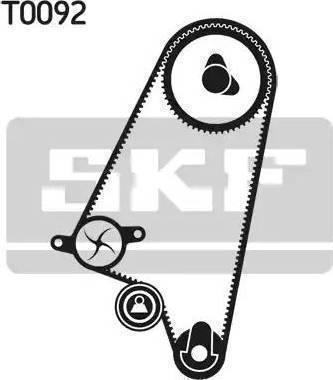 SKF vkma90008 - Комплект ремня ГРМ autodnr.net