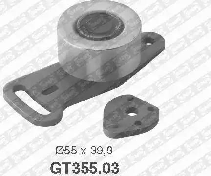 SNR GT355.03 - Натяжна ролик, ремінь ГРМ autocars.com.ua