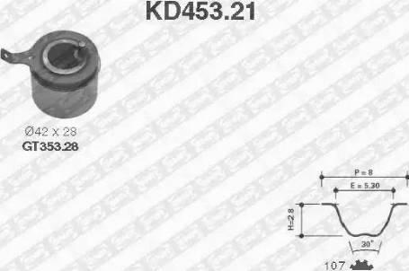SNR kd45321 - Комплект ремня ГРМ autodnr.net