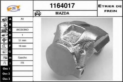 SNRA 1164017 - Тормозной суппорт avtokuzovplus.com.ua