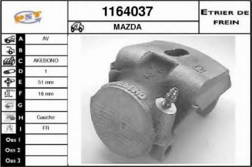 SNRA 1164037 - Тормозной суппорт avtokuzovplus.com.ua