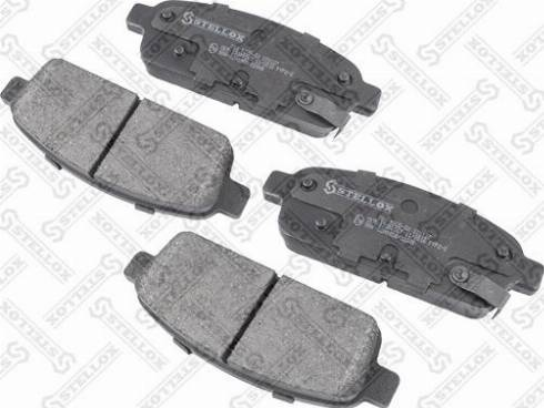 Stellox 000 022B-SX - Комплект тормозных колодок, дисковый тормоз autodnr.net