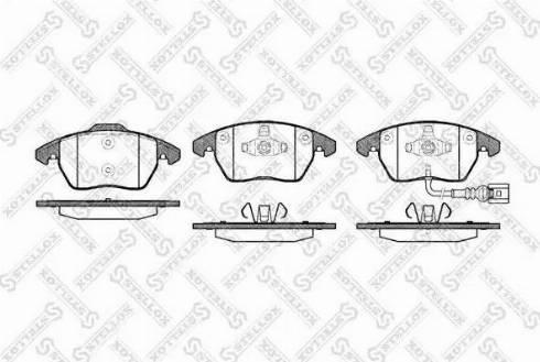 Stellox 1041 001B-SX - Тормозные колодки, дисковые car-mod.com