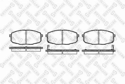Stellox 1049 002-SX - Тормозные колодки, дисковые car-mod.com