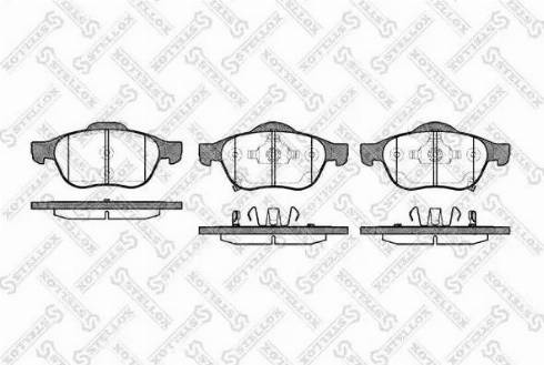 Stellox 1065 002-SX - Комплект тормозных колодок, дисковый тормоз autodnr.net