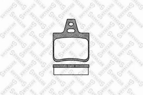 Stellox 113 010-SX - Комплект тормозных колодок, дисковый тормоз autodnr.net