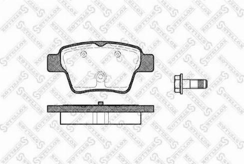 Stellox 1149 000B-SX - Комплект тормозных колодок, дисковый тормоз autodnr.net