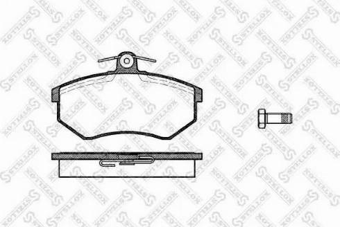 Stellox 145 000-SX - Тормозные колодки, дисковые car-mod.com