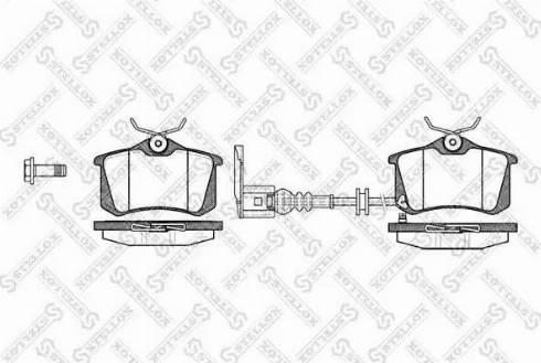 Stellox 274 041-SX - Комплект тормозных колодок, дисковый тормоз autodnr.net