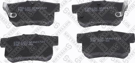 Stellox 336 032-SX - Тормозные колодки, дисковые car-mod.com