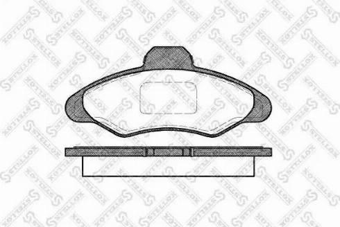 Stellox 342 000-SX - Комплект тормозных колодок, дисковый тормоз autodnr.net