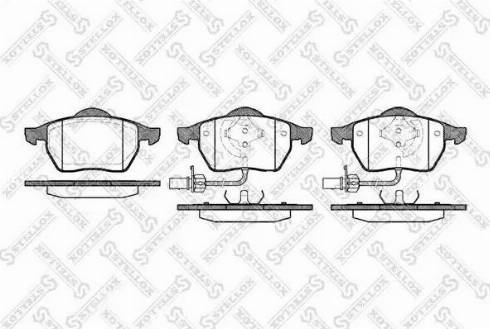 Stellox 401 022B-SX - Тормозные колодки, дисковые car-mod.com