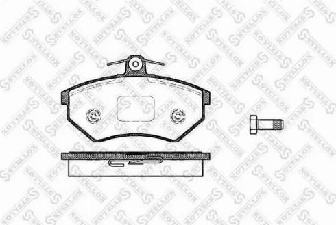 Stellox 412 000-SX - Тормозные колодки, дисковые car-mod.com