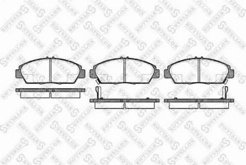 Stellox 417 002B-SX - Тормозные колодки, дисковые car-mod.com