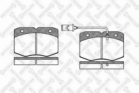 Stellox 446 002-SX - Комплект тормозных колодок, дисковый тормоз autodnr.net