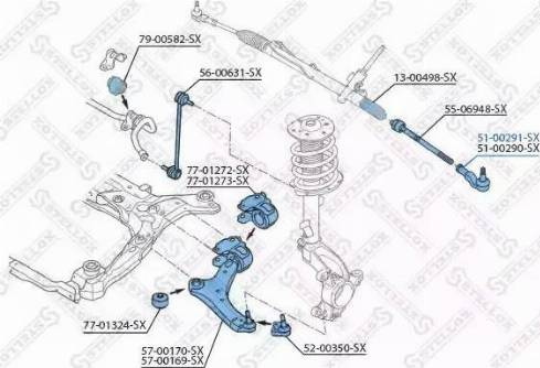 Stellox 51-00291-SX - Наконечник рулевой тяги, шарнир car-mod.com