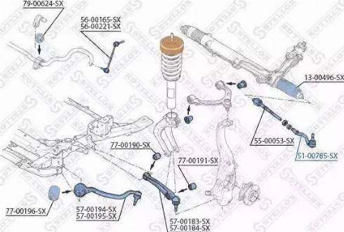Stellox 51-00785-SX - Наконечник рулевой тяги, шарнир car-mod.com