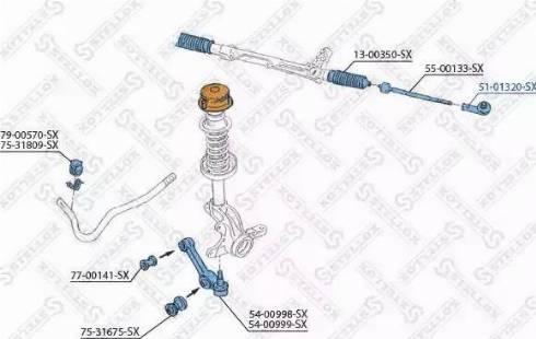 Stellox 51-01320-SX - Наконечник поперечной рулевой тяги autodnr.net