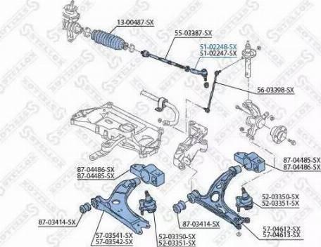 Stellox 51-02248-SX - Наконечник рулевой тяги, шарнир car-mod.com