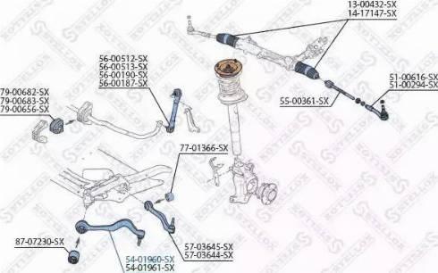 Stellox 54-01960-SX - Рычаг независимой подвески колеса car-mod.com