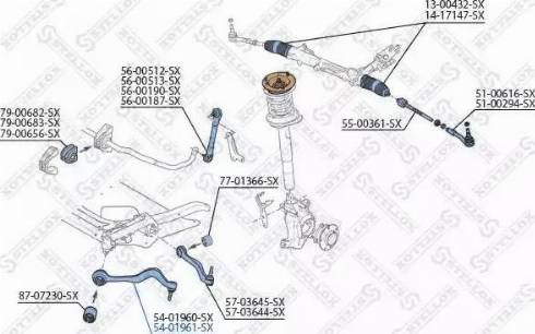 Stellox 54-01961-SX - Рычаг независимой подвески колеса car-mod.com