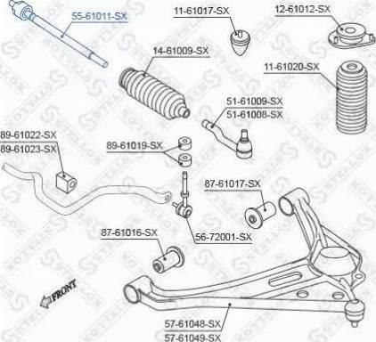 Stellox 55-61011-SX - Осевой шарнир, рулевая тяга autodnr.net