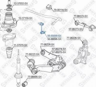 Stellox 56-00099-SX - Тяга / стойка, стабилизатор car-mod.com