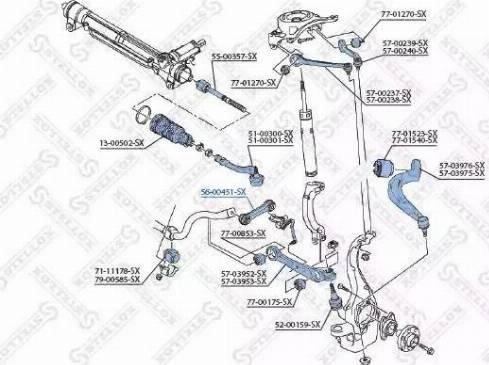 Stellox 56-00451-SX - Тяга / стойка, стабилизатор car-mod.com