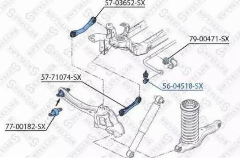 Stellox 56-04518-SX - Тяга / стойка, стабилизатор autodnr.net
