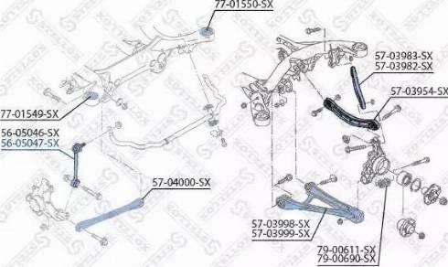 Stellox 56-05047-SX - Тяга / стойка, стабилизатор car-mod.com