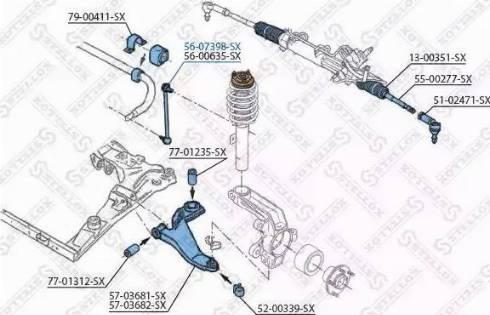 Stellox 56-07398-SX - Тяга / стойка, стабилизатор car-mod.com