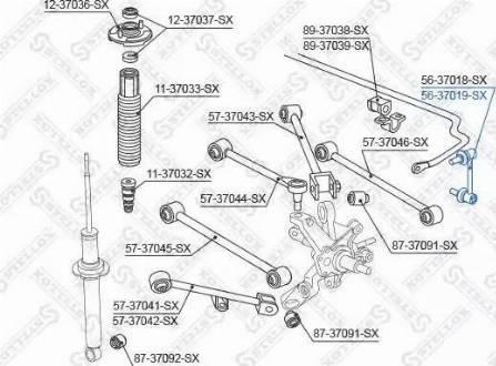 Stellox 56-37019-SX - Тяга / стойка, стабилизатор car-mod.com
