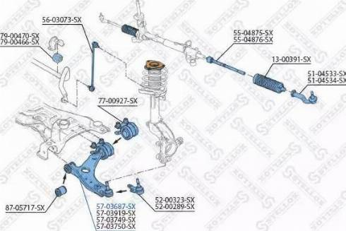 Stellox 57-03687-SX - Рычаг независимой подвески колеса, подвеска колеса autodnr.net