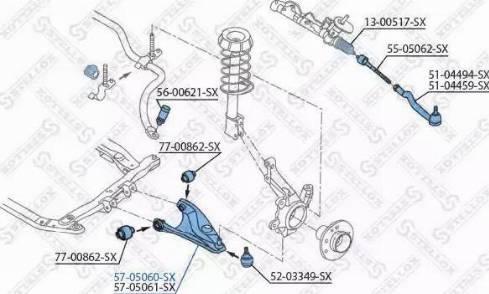 Stellox 57-05060-SX - Рычаг независимой подвески колеса car-mod.com