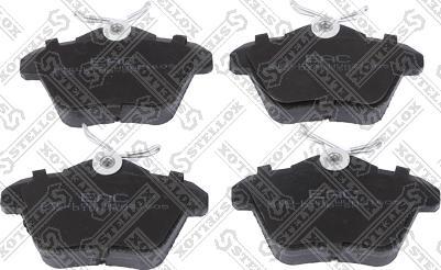 Stellox 592 010B-SX - Комплект тормозных колодок, дисковый тормоз autodnr.net