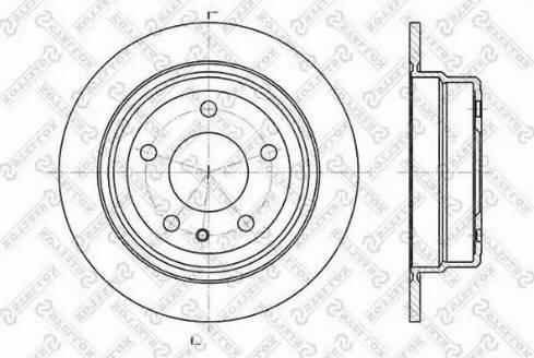Stellox 6020-1514-SX - Тормозной диск autodnr.net