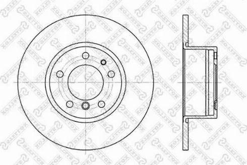 Stellox 6020-1518-SX - Тормозной диск autodnr.net