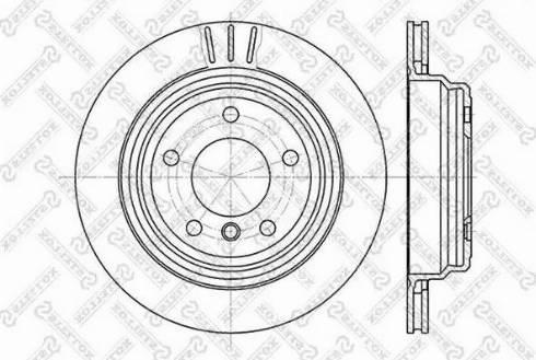 Stellox 6020-1539V-SX - Тормозной диск autodnr.net