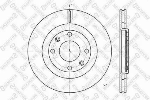 Stellox 6020-9915V-SX - Тормозной диск autodnr.net