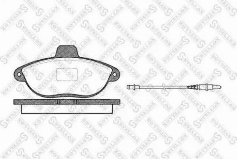 Stellox 613 002B-SX - Комплект тормозных колодок, дисковый тормоз autodnr.net