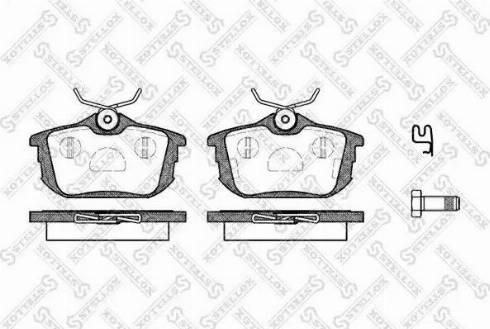 Stellox 616 012-SX - Комплект тормозных колодок, дисковый тормоз autodnr.net