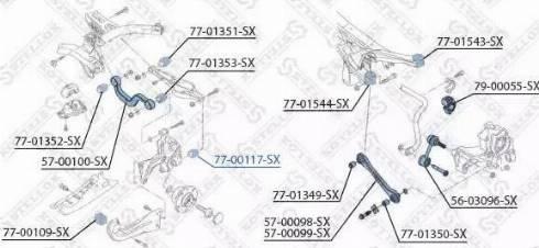 Stellox 77-00117-SX - Сайлентблок, рычаг подвески колеса car-mod.com