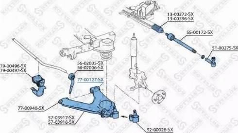 Stellox 77-00127-SX - Подвеска, рычаг независимой подвески колеса autodnr.net