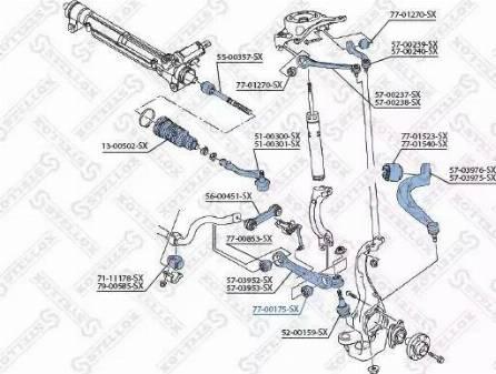 Stellox 77-00175-SX - Сайлентблок, рычаг подвески колеса car-mod.com