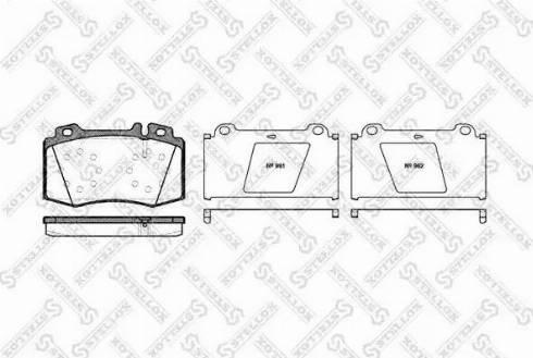 Stellox 780 000B-SX - Тормозные колодки, дисковые car-mod.com
