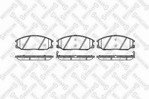 Stellox 782 012B-SX - Тормозные колодки, дисковые car-mod.com
