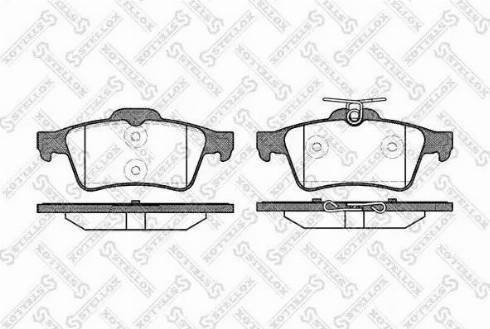 Stellox 853 020-SX - Тормозные колодки, дисковые car-mod.com